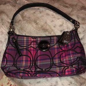🌺 Coach poppy plaid bag 🌺 F15463